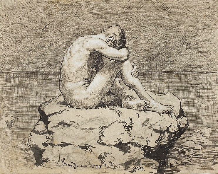 Loneliness by Hans Thoma (National Museum in Warsaw)